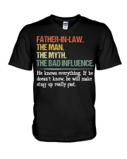 HE KNOWS EVERYTHING V-Neck T-Shirt thumbnail