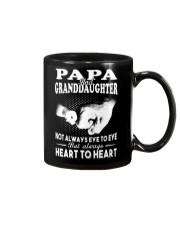 Papa And Granddaughter Always Heart To Heart Mug thumbnail