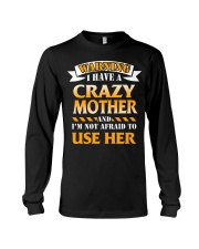 Warning Crazy Mother Long Sleeve Tee thumbnail