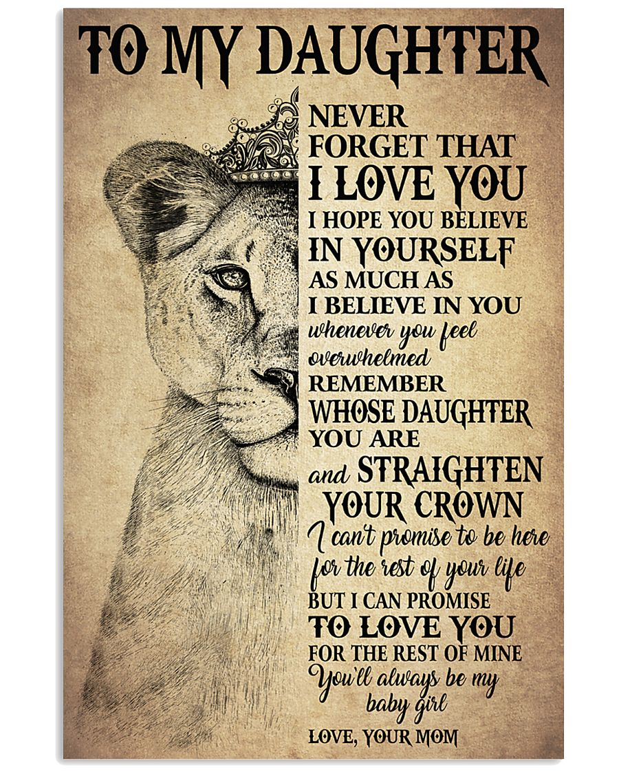 I LOVE YOU - TO MOM FROM DAUGHTER 11x17 Poster