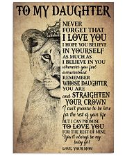 I LOVE YOU - TO MOM FROM DAUGHTER 11x17 Poster front