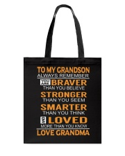 To My Grandson Always Remember Tote Bag thumbnail