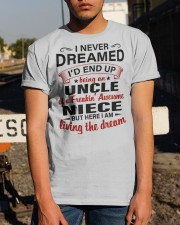 LIVING THE DREAM - LOVELY GIFT FOR UNCLE Classic T-Shirt apparel-classic-tshirt-lifestyle-29