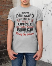 LIVING THE DREAM - LOVELY GIFT FOR UNCLE Classic T-Shirt apparel-classic-tshirt-lifestyle-31