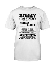I AM ALREADY TAKEN BY A SEXY AND CRAZY GIRL Premium Fit Mens Tee thumbnail