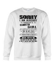I AM ALREADY TAKEN BY A SEXY AND CRAZY GIRL Crewneck Sweatshirt thumbnail
