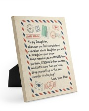 A BIG HUG - BEST GIFT FOR DAUGHTER FROM MOM 8x10 Easel-Back Gallery Wrapped Canvas thumbnail