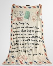 """A BIG HUG - BEST GIFT FOR DAUGHTER FROM MOM Large Fleece Blanket - 60"""" x 80"""" aos-coral-fleece-blanket-60x80-lifestyle-front-10"""