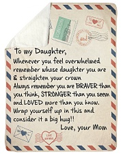 """A BIG HUG - BEST GIFT FOR DAUGHTER FROM MOM Large Sherpa Fleece Blanket - 60"""" x 80"""" thumbnail"""