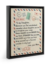 A BIG HUG - BEST GIFT FOR DAUGHTER FROM MOM 11x14 Black Floating Framed Canvas Prints thumbnail