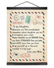 A BIG HUG - BEST GIFT FOR DAUGHTER FROM MOM 12x16 Black Hanging Canvas thumbnail