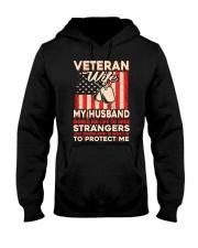 To Protect Veteran Wife Hooded Sweatshirt thumbnail
