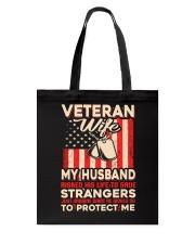 To Protect Veteran Wife Tote Bag thumbnail