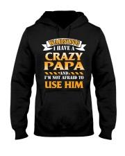 Warning Crazy Papa Hooded Sweatshirt thumbnail