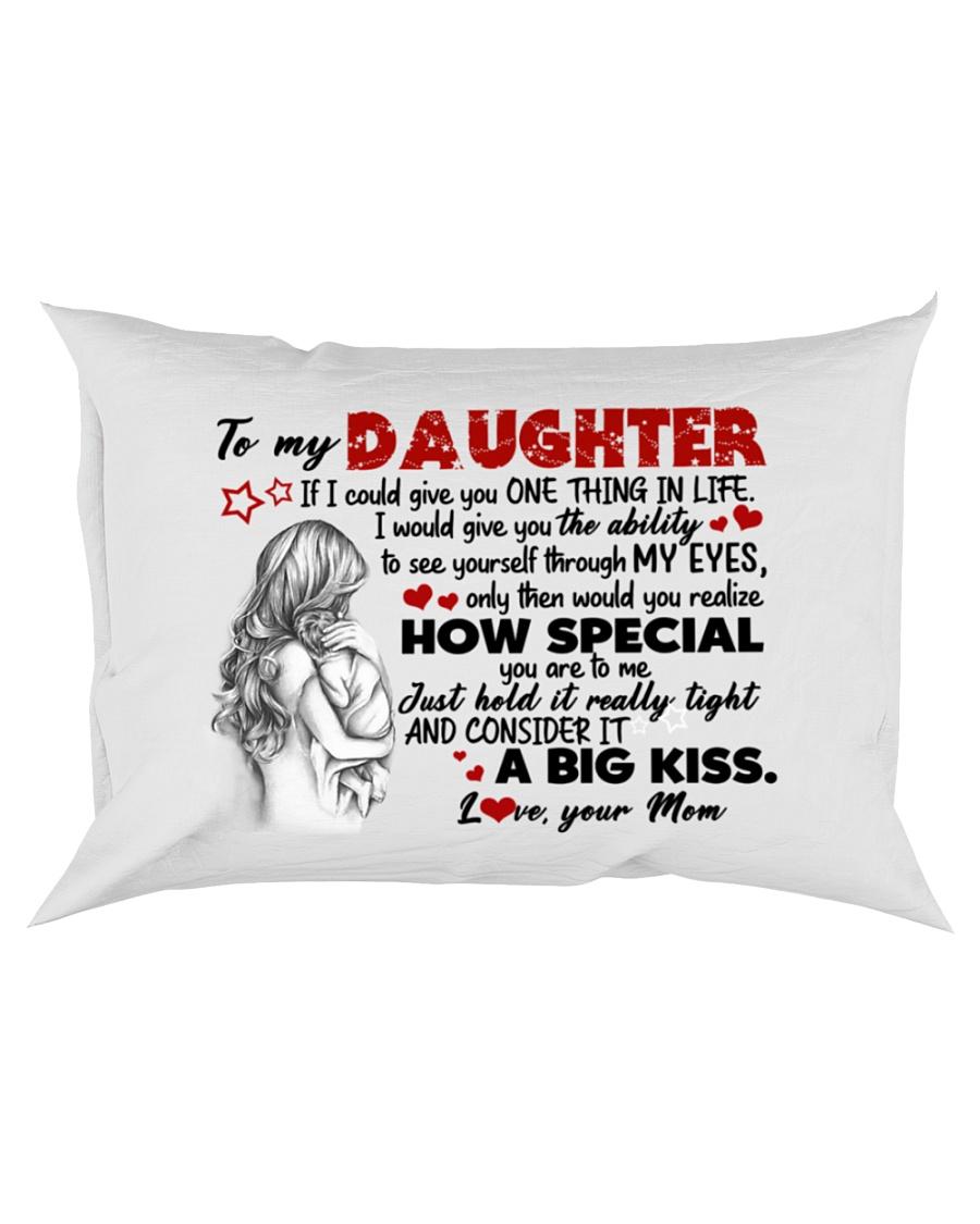 A BIG KISS - AMAZING GIFT FOR DAUGHTER Rectangular Pillowcase