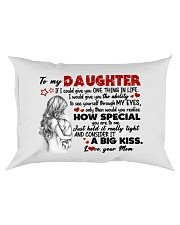 A BIG KISS - AMAZING GIFT FOR DAUGHTER Rectangular Pillowcase front