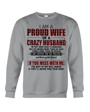 HE LOVES ME SO MUCH - LOVELY MESSAGE GIFT FOR WIFE Crewneck Sweatshirt thumbnail