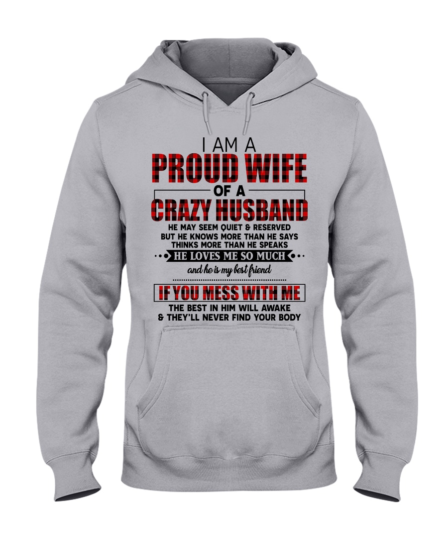 HE LOVES ME SO MUCH - LOVELY MESSAGE GIFT FOR WIFE Hooded Sweatshirt