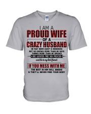 HE LOVES ME SO MUCH - LOVELY MESSAGE GIFT FOR WIFE V-Neck T-Shirt thumbnail