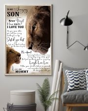 I LOVE YOU - BEST GIFT FOR SON FROM MOMMY 11x17 Poster lifestyle-poster-1