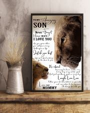 I LOVE YOU - BEST GIFT FOR SON FROM MOMMY 11x17 Poster lifestyle-poster-3