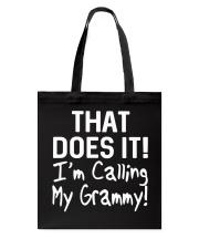 Calling Grammy Tote Bag thumbnail