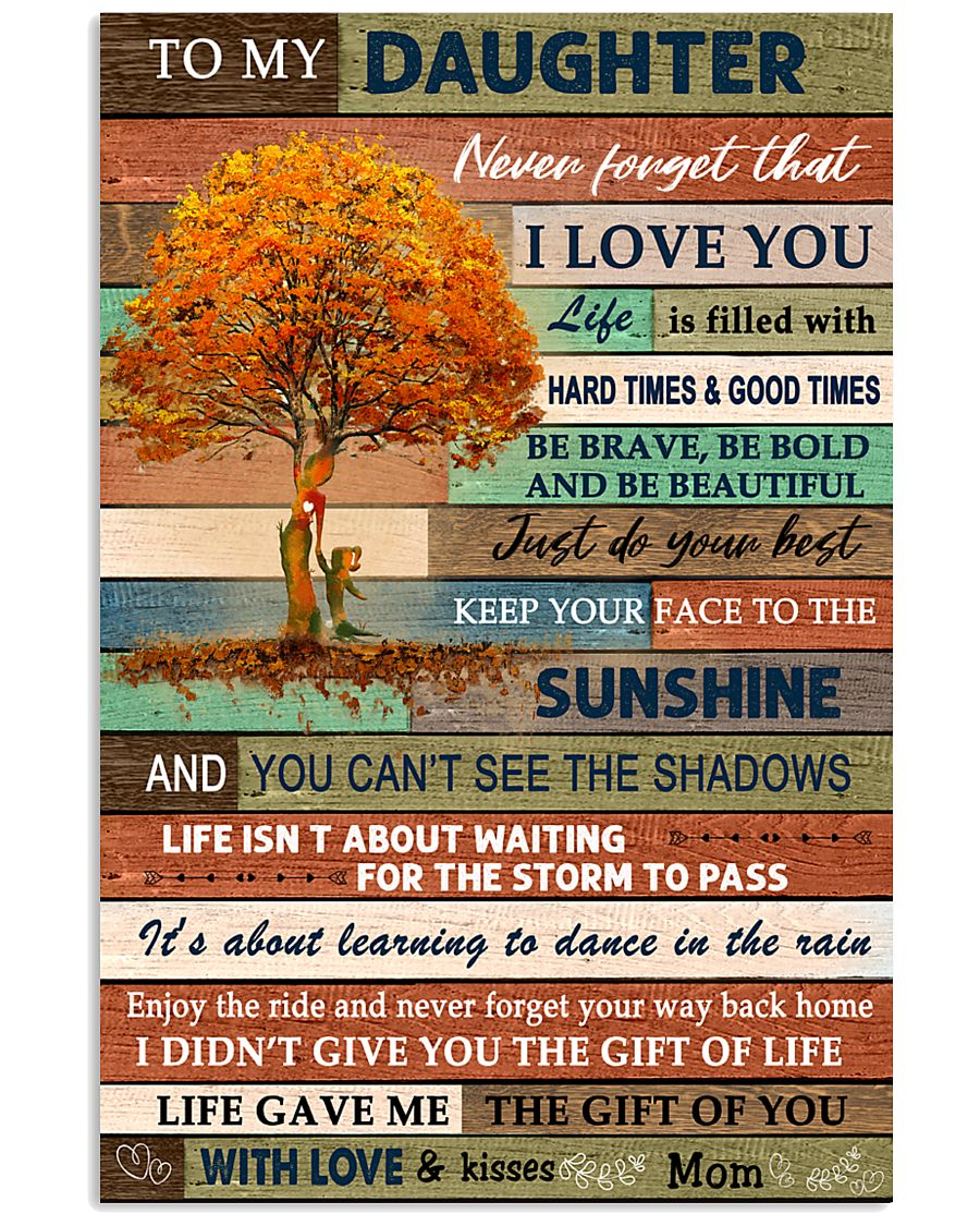 I LOVE YOU - BEST GIFT FOR DAUGHTER FROM MOM 11x17 Poster
