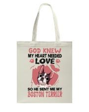 GOD SENT ME MY BOSTON TERRIER Tote Bag thumbnail