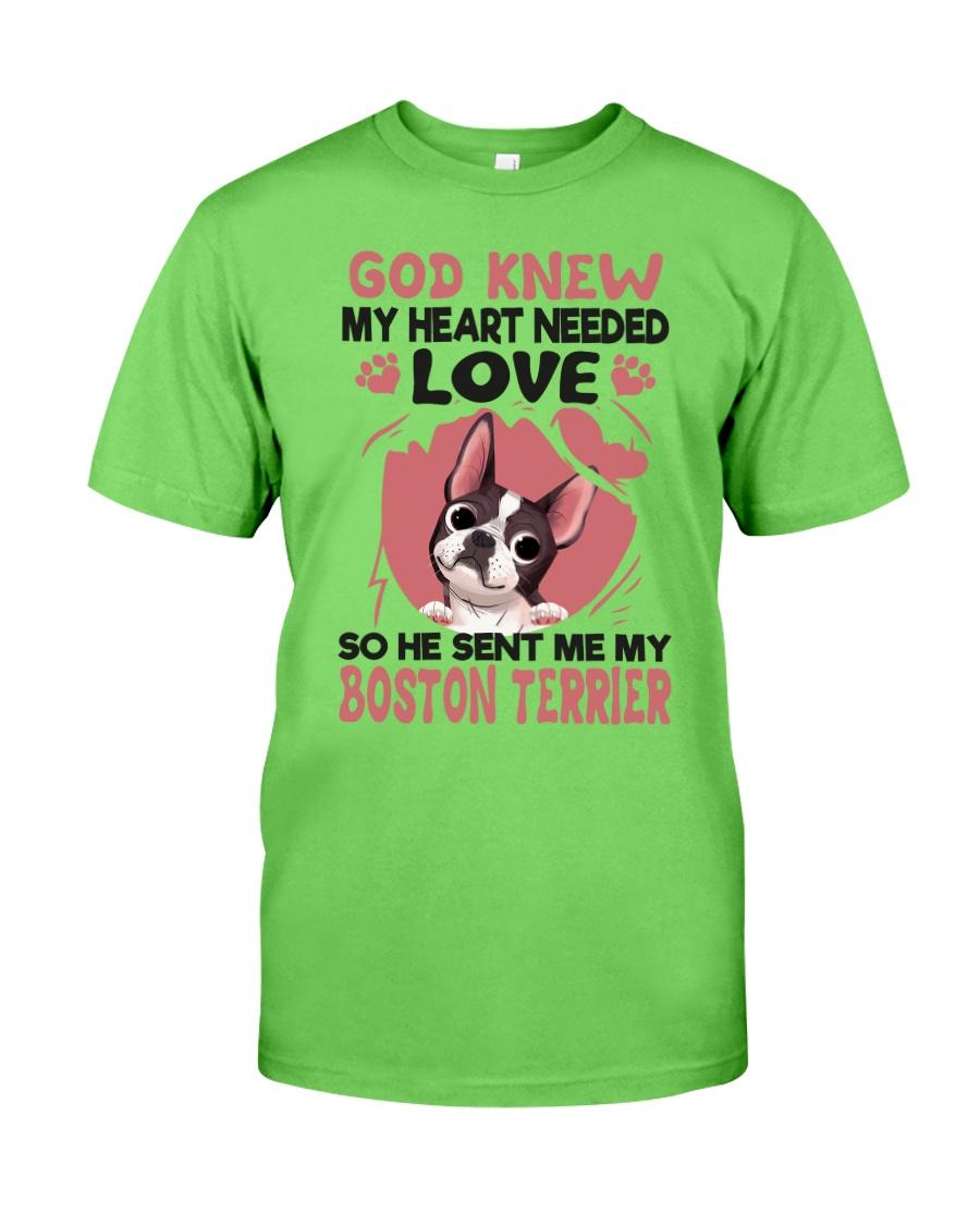 GOD SENT ME MY BOSTON TERRIER Classic T-Shirt