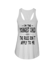 I'm The Youngest Child Ladies Flowy Tank front