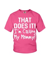 Calling Mommy Youth T-Shirt front