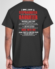 WHO HAPPENED TO BE BORN - BEST GIFT FOR DAUGHTER Classic T-Shirt garment-tshirt-unisex-back-04