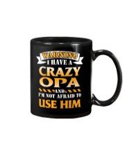 Warning Crazy Opa Mug thumbnail