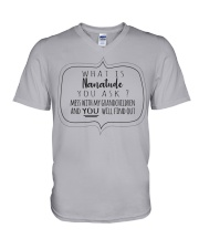 WHAT IS NANATUDE YOU ASK V-Neck T-Shirt thumbnail