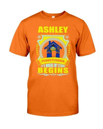 Born in Ashley-PA proud TShirt