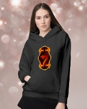 Flaming Dragon Hooded Sweatshirt lifestyle-holiday-hoodie-front-1