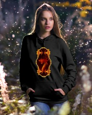 Flaming Dragon Hooded Sweatshirt lifestyle-holiday-hoodie-front-5