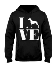 Love Doberman Pinscher Shirt For Men Women White D Hooded Sweatshirt thumbnail
