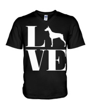 Love Doberman Pinscher Shirt For Men Women White D V-Neck T-Shirt thumbnail