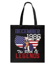 Legends Were Born In december 1986 Tote Bag thumbnail