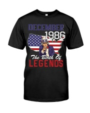 Legends Were Born In december 1986 Classic T-Shirt tile