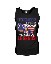 Legends Were Born In december 1986 Unisex Tank thumbnail