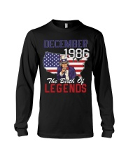 Legends Were Born In december 1986 Long Sleeve Tee thumbnail