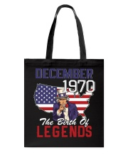 Legends Were Born In december 1970 Tote Bag thumbnail