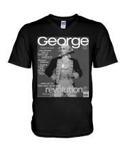 1995 GEORGE MAGAZINE shirt  V-Neck T-Shirt thumbnail
