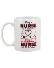 Being a retired nurse is an honor Mug Mug back