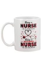 Being a retired nurse is an honor Mug Mug back