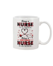 Being a retired nurse is an honor Mug Mug front