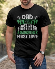 Dad A Son's First Hero A Girl's  First Love Classic T-Shirt apparel-classic-tshirt-lifestyle-front-53