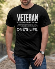Veteran Definition Veterans Day Tee Shirt  Classic T-Shirt apparel-classic-tshirt-lifestyle-front-53